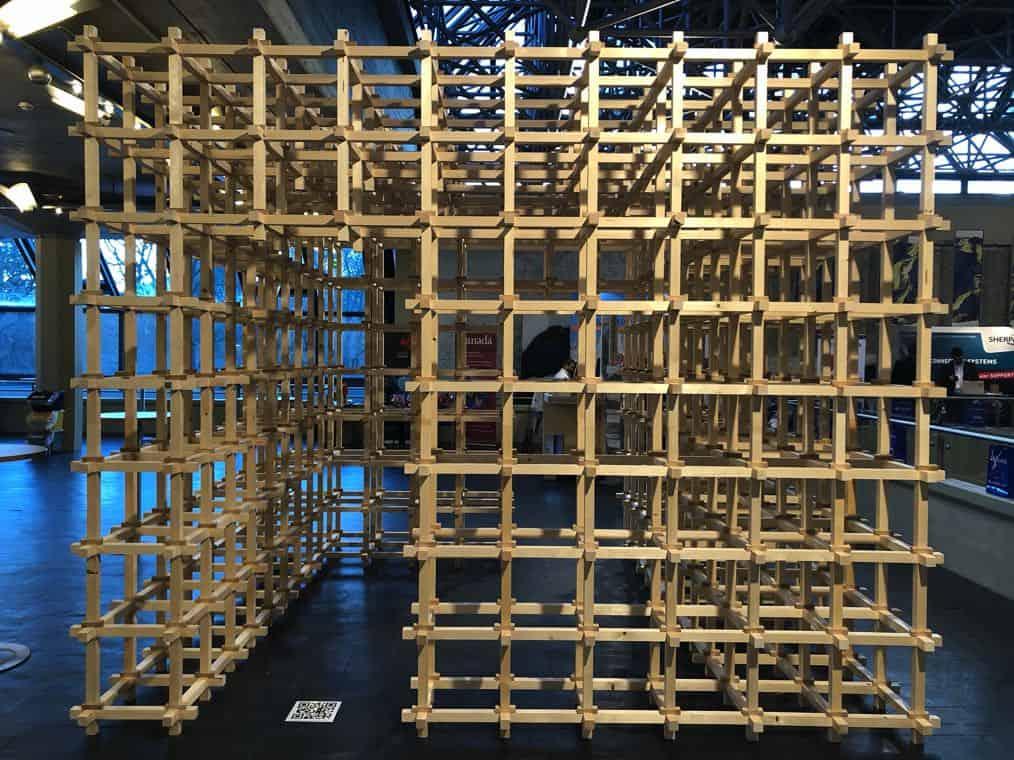 Gitter Roboter Knoten Holz