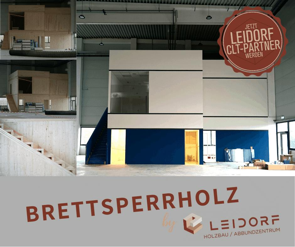 CLT Brettsperrholz Indoor Baustelle