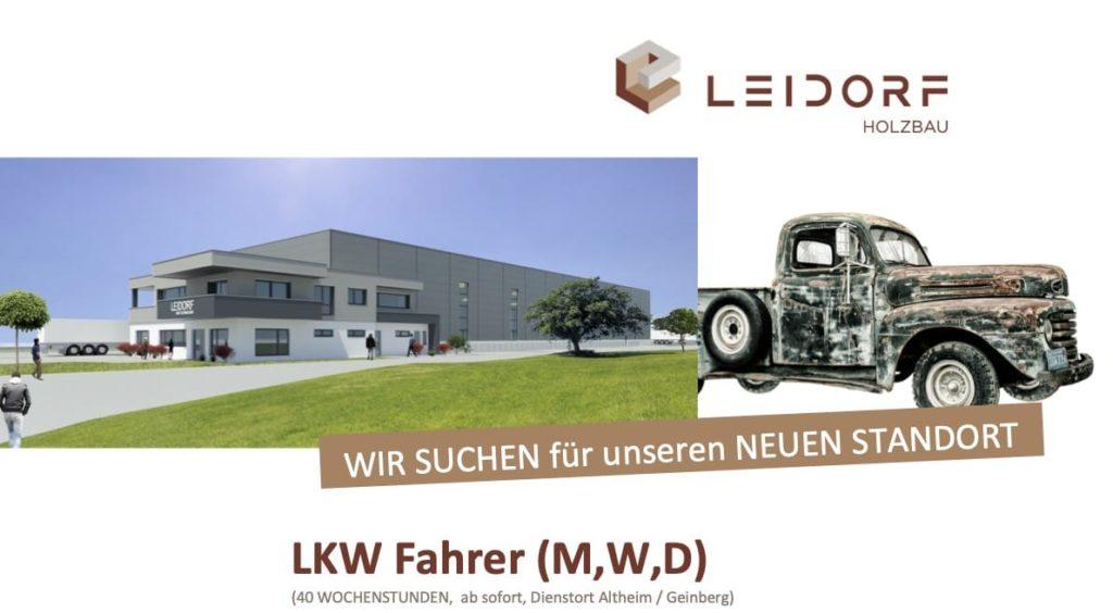LKW Fahrer gesucht Holzbau Altheim Geinberg