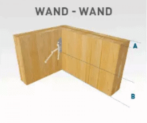 Sherpa CLT connector Wand-Wand